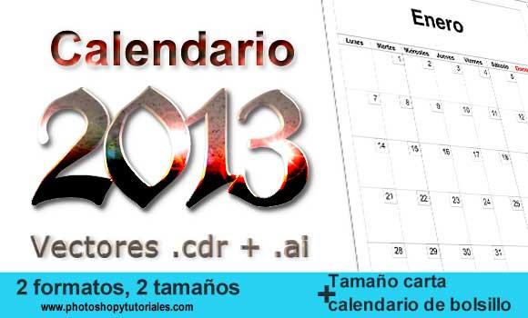 Calendario 2013 en vectores